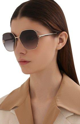 Женские солнцезащитные очки GUCCI серого цвета, арт. GG0818SA 005   Фото 2