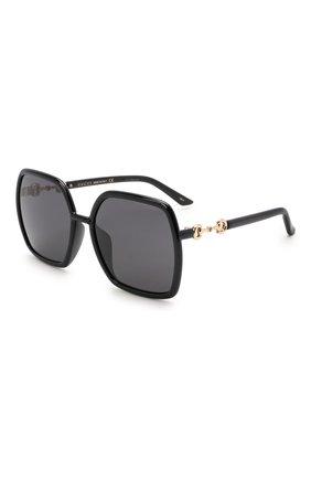 Женские солнцезащитные очки GUCCI черного цвета, арт. GG0890SA 001   Фото 1