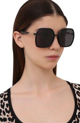 Женские солнцезащитные очки GUCCI черного цвета, арт. GG0890SA 001   Фото 2