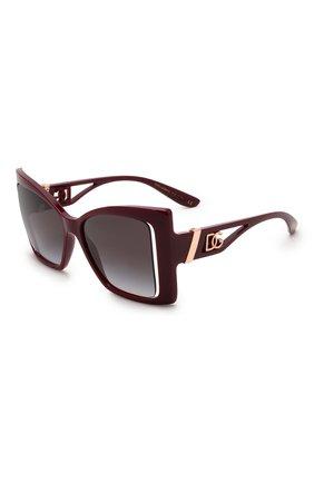Женские солнцезащитные очки DOLCE & GABBANA бордового цвета, арт. 6141-32858G | Фото 1 (Тип очков: С/з; Очки форма: Бабочка; Оптика Гендер: оптика-женское)