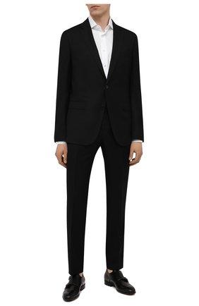 Мужской шерстяной костюм BOSS черного цвета, арт. 50453650 | Фото 1