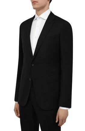 Мужской шерстяной костюм BOSS черного цвета, арт. 50453650 | Фото 2