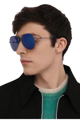 Мужские солнцезащитные очки MONCLER синего цвета, арт. ML 0168 08X 60 С/З ОЧКИ | Фото 2