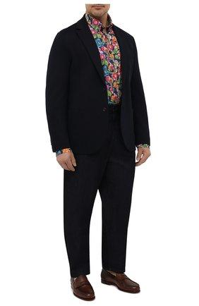 Мужская хлопковая рубашка PAUL&SHARK разноцветного цвета, арт. 21413434/C00 | Фото 2