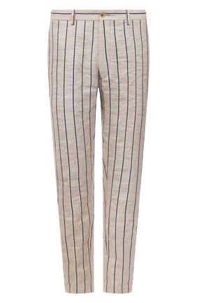 Мужские брюки GIORGIO ARMANI бежевого цвета, арт. 1SGPP0GY/T02HI | Фото 1 (Длина (брюки, джинсы): Стандартные; Материал внешний: Хлопок, Растительное волокно; Случай: Повседневный; Стили: Кэжуэл; Материал подклада: Синтетический материал)