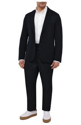 Мужская хлопковая рубашка POLO RALPH LAUREN белого цвета, арт. 711654408/PRL BS | Фото 2 (Манжеты: На пуговицах; Случай: Повседневный; Принт: Однотонные; Рукава: Длинные; Big sizes: Big Sizes; Воротник: Button down; Стили: Кэжуэл; Материал внешний: Хлопок; Длина (для топов): Стандартные)