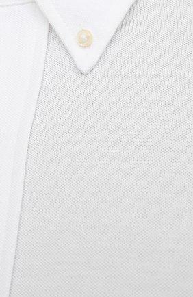 Мужская хлопковая рубашка POLO RALPH LAUREN белого цвета, арт. 711654408/PRL BS   Фото 5 (Манжеты: На пуговицах; Воротник: Button down; Big sizes: Big Sizes; Рукава: Длинные; Случай: Повседневный; Длина (для топов): Стандартные; Материал внешний: Хлопок; Принт: Однотонные; Стили: Кэжуэл)