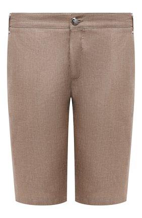 Мужские льняные шорты ZILLI SPORT коричневого цвета, арт. M0V-D0171-LIN01/S001   Фото 1