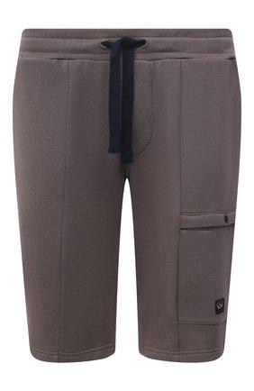 Мужские хлопковые шорты PAUL&SHARK коричневого цвета, арт. 21411883/C00/3XL-6XL | Фото 1