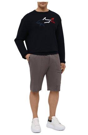 Мужские хлопковые шорты PAUL&SHARK коричневого цвета, арт. 21411883/C00/3XL-6XL | Фото 2