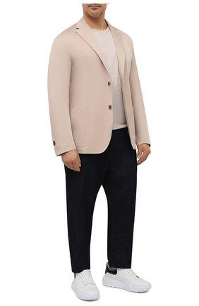 Мужская хлопковая футболка PAUL&SHARK светло-бежевого цвета, арт. C0P1002/C00/3XL-6XL | Фото 2