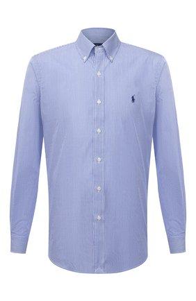 Мужская хлопковая рубашка POLO RALPH LAUREN синего цвета, арт. 710792044/2866 | Фото 1
