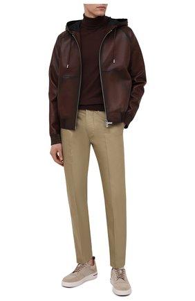 Мужской кожаный бомбер BERLUTI темно-коричневого цвета, арт. R18LBL74-003 | Фото 2