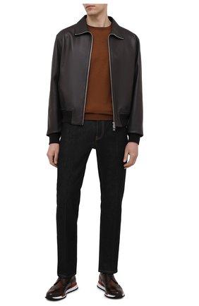 Мужские кожаные кроссовки BERLUTI темно-коричневого цвета, арт. S5542-001 | Фото 2