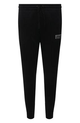 Мужские джоггеры VALENTINO черного цвета, арт. WV3MD03E7ML | Фото 1 (Материал внешний: Синтетический материал, Хлопок; Мужское Кросс-КТ: Брюки-трикотаж; Силуэт М (брюки): Джоггеры; Длина (брюки, джинсы): Стандартные; Кросс-КТ: Спорт; Стили: Спорт-шик)