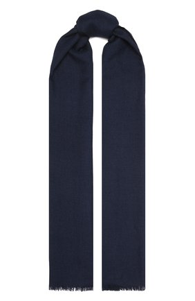 Мужской шарф из кашемира и шелка LORO PIANA темно-синего цвета, арт. FAI6875 | Фото 1