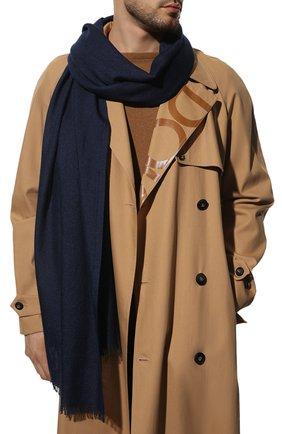 Мужской шарф из кашемира и шелка LORO PIANA темно-синего цвета, арт. FAI6875 | Фото 2