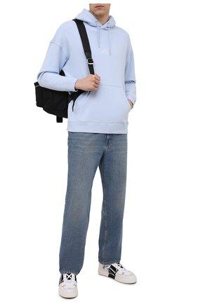 Мужские кожаные кеды vl7n VALENTINO черно-белого цвета, арт. WY2S0C58/WRQ | Фото 2