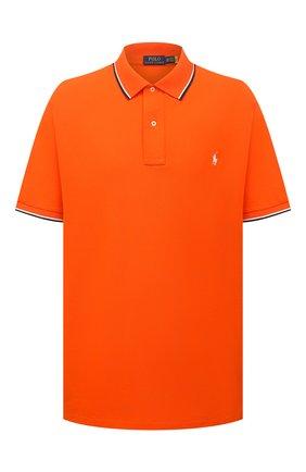 Мужское хлопковое поло POLO RALPH LAUREN оранжевого цвета, арт. 711842621/PRL BS | Фото 1