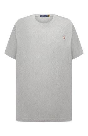 Мужская хлопковая футболка POLO RALPH LAUREN серого цвета, арт. 711746817/PRL BS   Фото 1