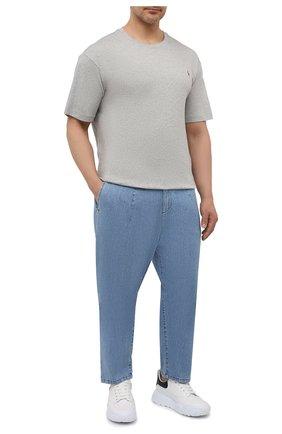 Мужская хлопковая футболка POLO RALPH LAUREN серого цвета, арт. 711746817/PRL BS   Фото 2