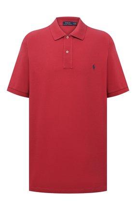 Мужское хлопковое поло POLO RALPH LAUREN красного цвета, арт. 711680784/PRL BS | Фото 1