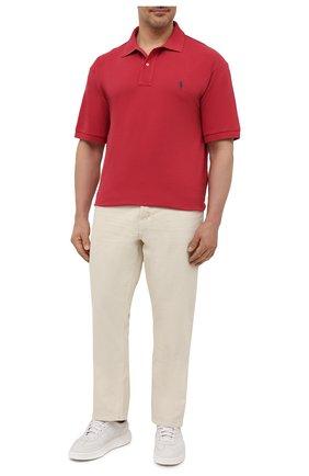 Мужское хлопковое поло POLO RALPH LAUREN красного цвета, арт. 711680784/PRL BS | Фото 2