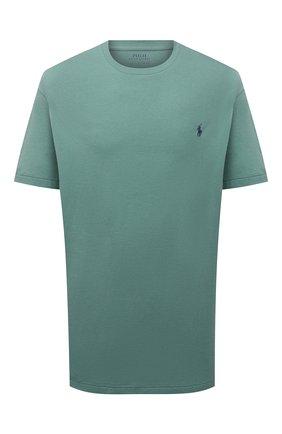 Мужская хлопковая футболка POLO RALPH LAUREN зеленого цвета, арт. 711671438/PRL BS | Фото 1 (Принт: Без принта; Материал внешний: Хлопок; Стили: Кэжуэл; Рукава: Короткие; Длина (для топов): Удлиненные; Big sizes: Big Sizes)