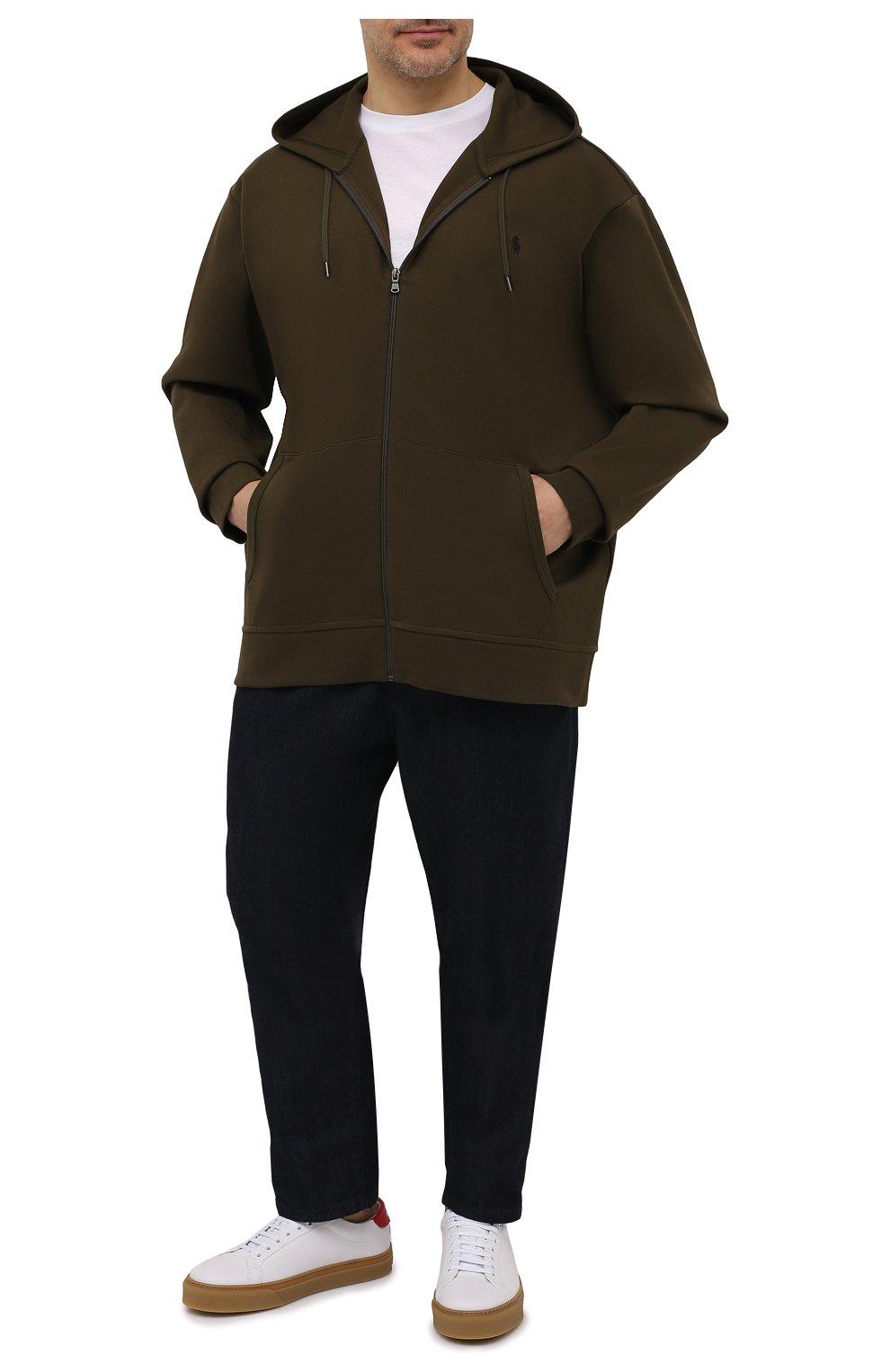 Мужской толстовка POLO RALPH LAUREN хаки цвета, арт. 711652313/PRL BS   Фото 2 (Big sizes: Big Sizes; Рукава: Длинные; Мужское Кросс-КТ: Толстовка-одежда; Материал внешний: Синтетический материал, Хлопок; Длина (для топов): Удлиненные; Стили: Спорт-шик)