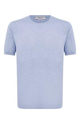 Мужской джемпер из хлопка и кашемира FIORONI синего цвета, арт. MK22621A2 | Фото 1