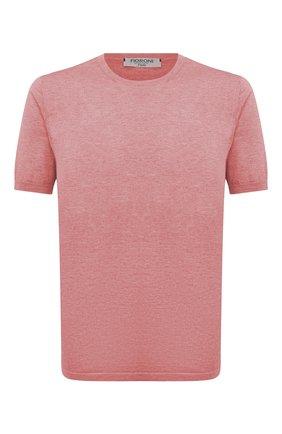 Мужской джемпер из хлопка и кашемира FIORONI розового цвета, арт. MK22621A2 | Фото 1