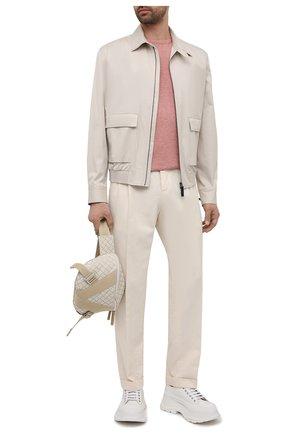 Мужской джемпер из хлопка и кашемира FIORONI розового цвета, арт. MK22621A2 | Фото 2