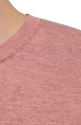Мужской джемпер из хлопка и кашемира FIORONI розового цвета, арт. MK22621A2 | Фото 5 (Мужское Кросс-КТ: Джемперы; Принт: Без принта; Рукава: Короткие; Длина (для топов): Стандартные; Материал внешний: Хлопок; Вырез: Круглый; Стили: Кэжуэл)