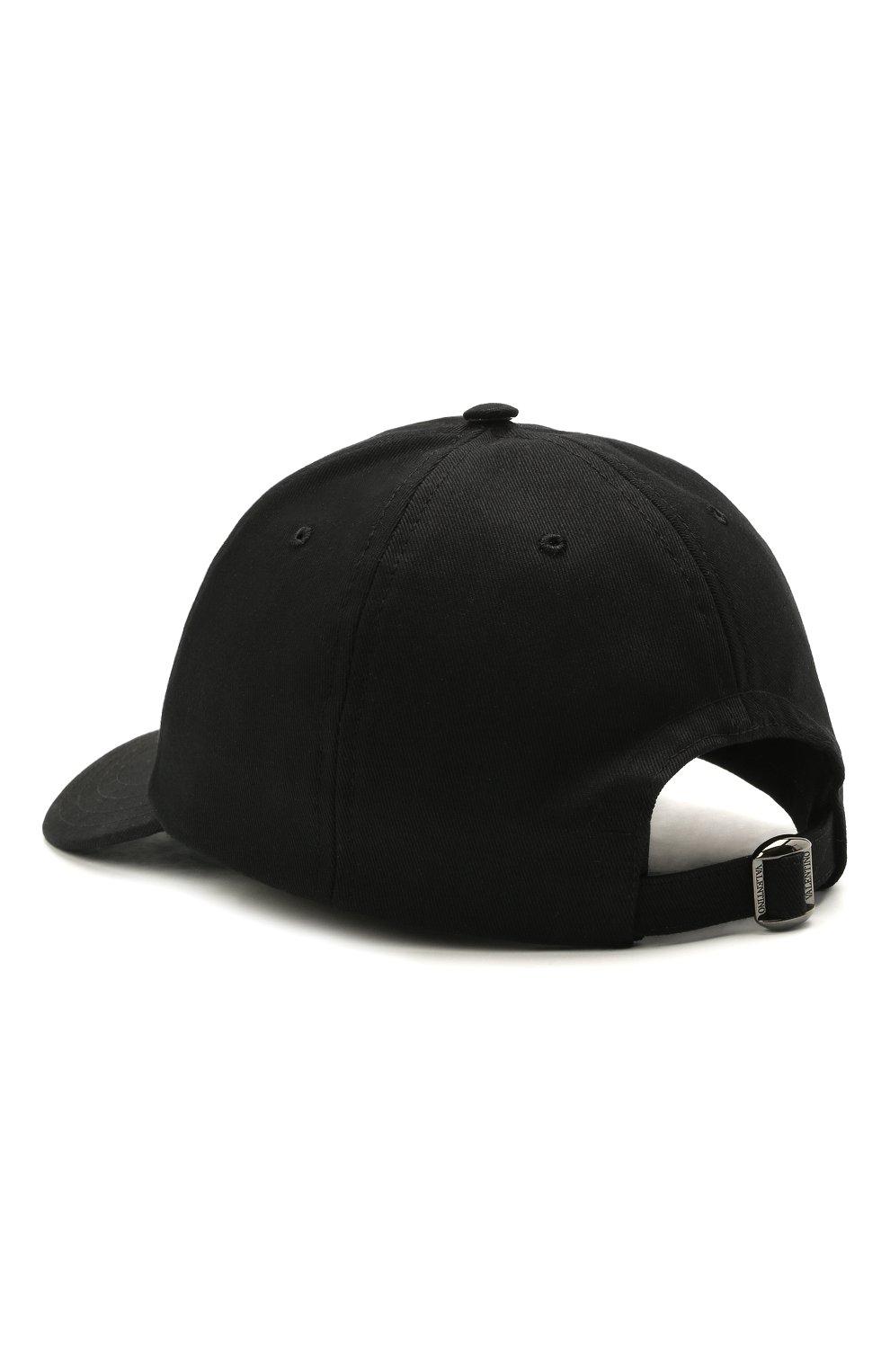 Мужской хлопковая бейсболка VALENTINO черного цвета, арт. WY2HDA10/TNQ | Фото 2 (Материал: Текстиль, Хлопок)