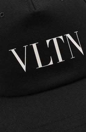 Мужской хлопковая бейсболка VALENTINO черного цвета, арт. WY2HDA10/TNQ | Фото 3 (Материал: Текстиль, Хлопок)
