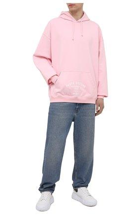 Мужской хлопковое худи VETEMENTS розового цвета, арт. UA52TR700P 1606/M | Фото 2