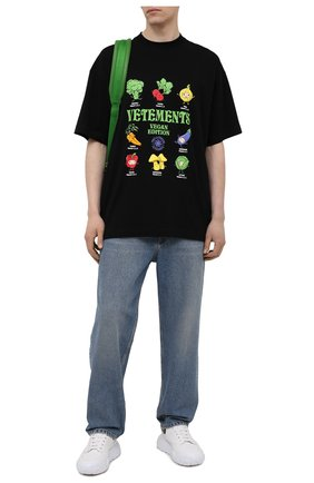 Мужская хлопковая футболка VETEMENTS черного цвета, арт. UA52TR380B 1611/M | Фото 2