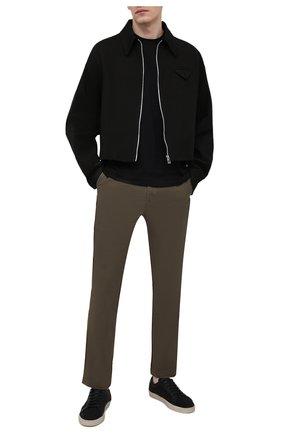 Мужские хлопковые брюки POLO RALPH LAUREN хаки цвета, арт. 710740566 | Фото 2
