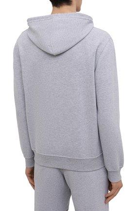 Мужской хлопковое худи BRUNELLO CUCINELLI серого цвета, арт. MTU149007G | Фото 4