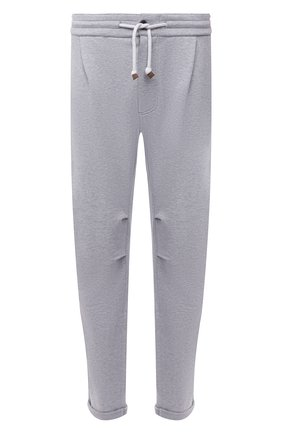 Мужские хлопковые брюки BRUNELLO CUCINELLI серого цвета, арт. MTU143353G | Фото 1