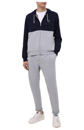 Мужские хлопковые брюки BRUNELLO CUCINELLI серого цвета, арт. MTU143353G | Фото 2