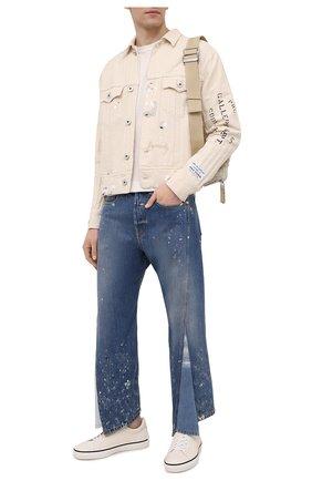 Мужские джинсы lanvin x gallery dept LANVIN темно-синего цвета, арт. RM-TR0076-D008-E21 | Фото 2