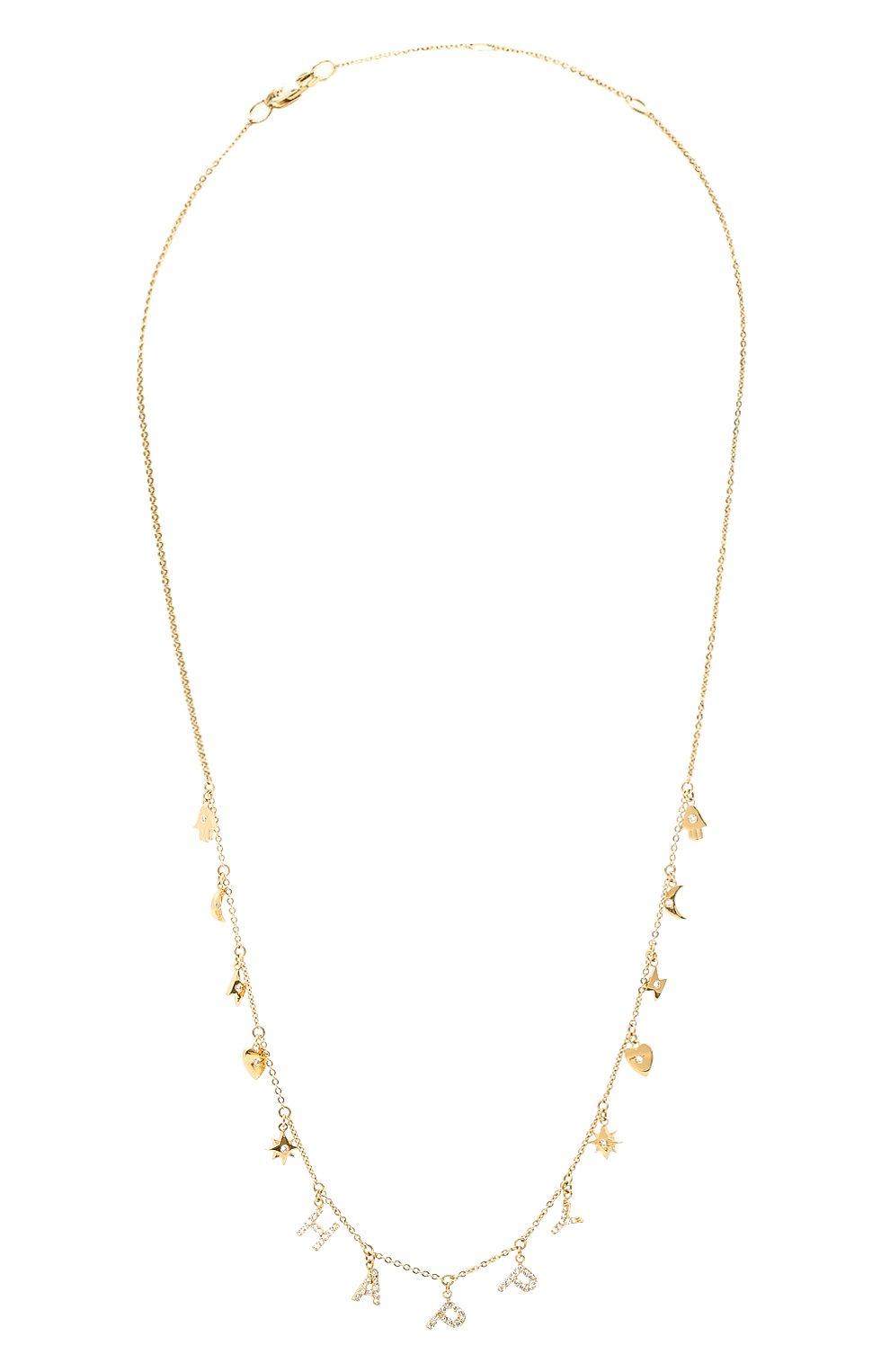 Женское колье happy J-POINT золотого цвета, арт. ИПГ857.26.250321.1Y   Фото 1 (Материал: Золото)