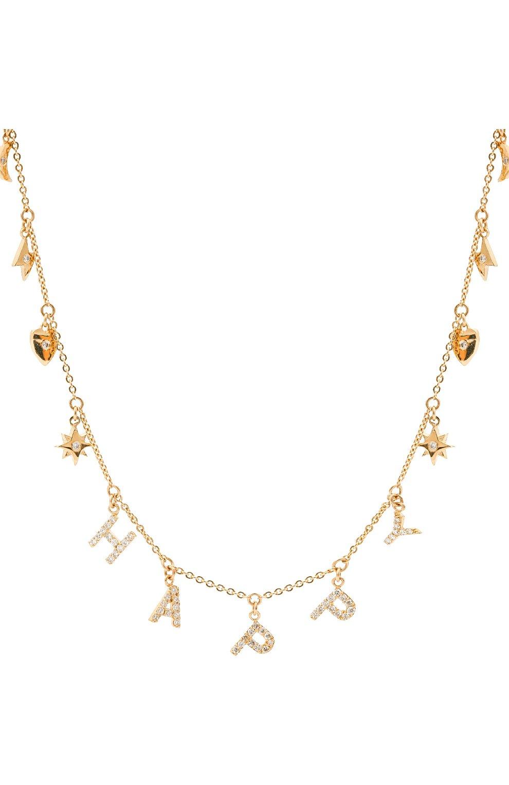 Женское колье happy J-POINT золотого цвета, арт. ИПГ857.26.250321.1Y   Фото 2 (Материал: Золото)