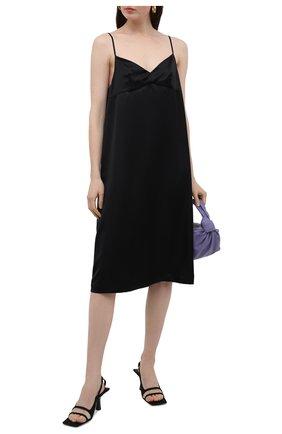Женское шелковое платье DANIILBERG черного цвета, арт. D008 | Фото 2
