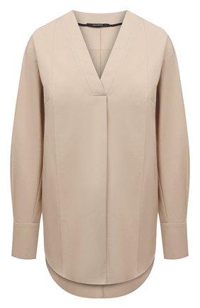 Женская хлопковая блузка DANIILBERG бежевого цвета, арт. BL001.20 | Фото 1