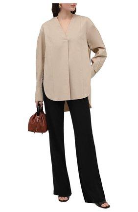 Женская хлопковая блузка DANIILBERG бежевого цвета, арт. BL001.20 | Фото 2