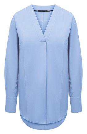 Женская хлопковая блузка DANIILBERG голубого цвета, арт. BL001.20 | Фото 1