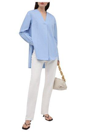 Женская хлопковая блузка DANIILBERG голубого цвета, арт. BL001.20 | Фото 2