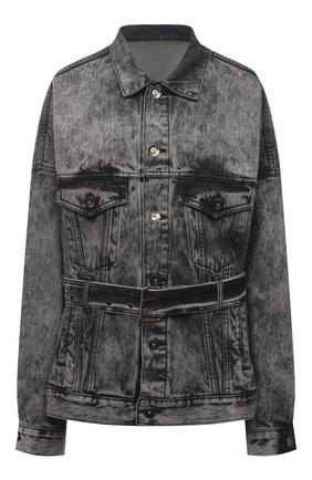 Женская джинсовая куртка DANIILBERG серого цвета, арт. DJ001 | Фото 1 (Кросс-КТ: Куртка, Деним; Стили: Гранж; Длина (верхняя одежда): Короткие; Рукава: Длинные; Материал внешний: Хлопок)